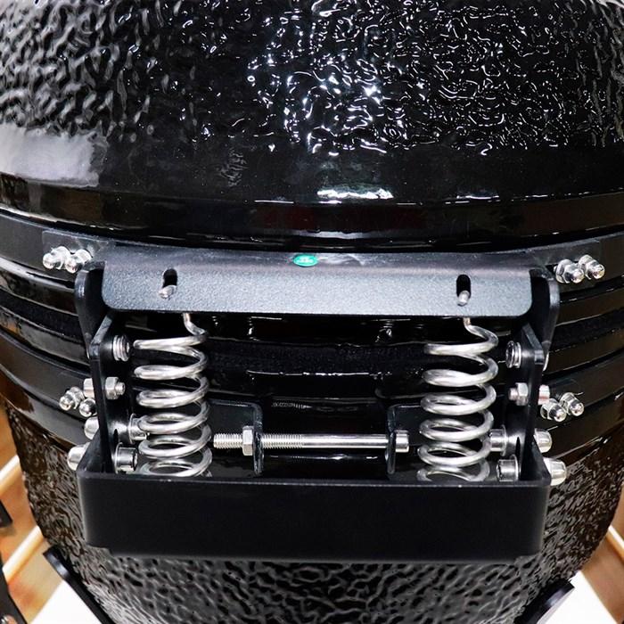 Гриль-барбекю яйцо керамический угольный черный, 56 см/22 дюйма - фото 87227