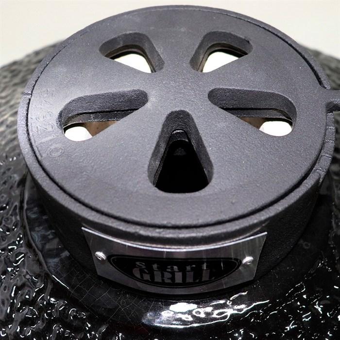 Гриль-барбекю яйцо керамический угольный черный, 56 см/22 дюйма - фото 87228