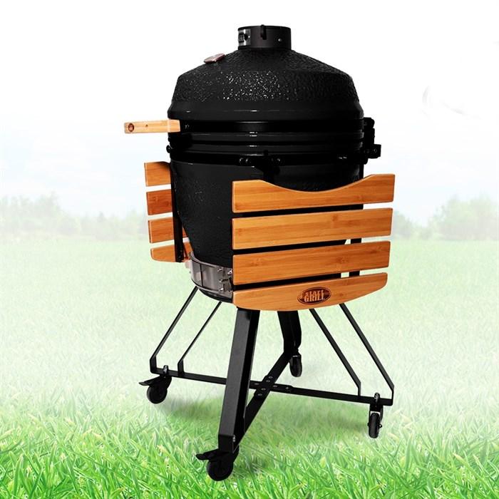 Гриль-барбекю яйцо керамический угольный черный, 56 см/22 дюйма - фото 87233