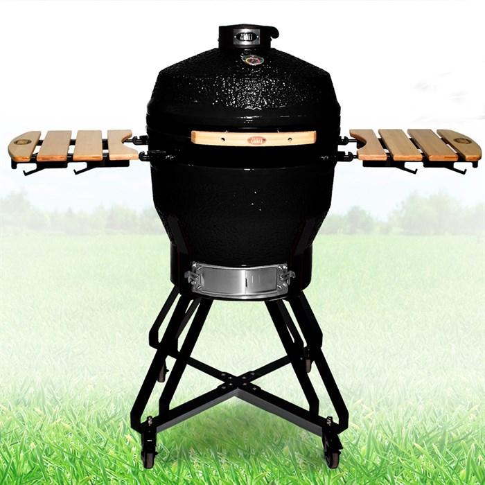 Гриль-барбекю яйцо керамический угольный черный, 56 см/22 дюйма - фото 87234
