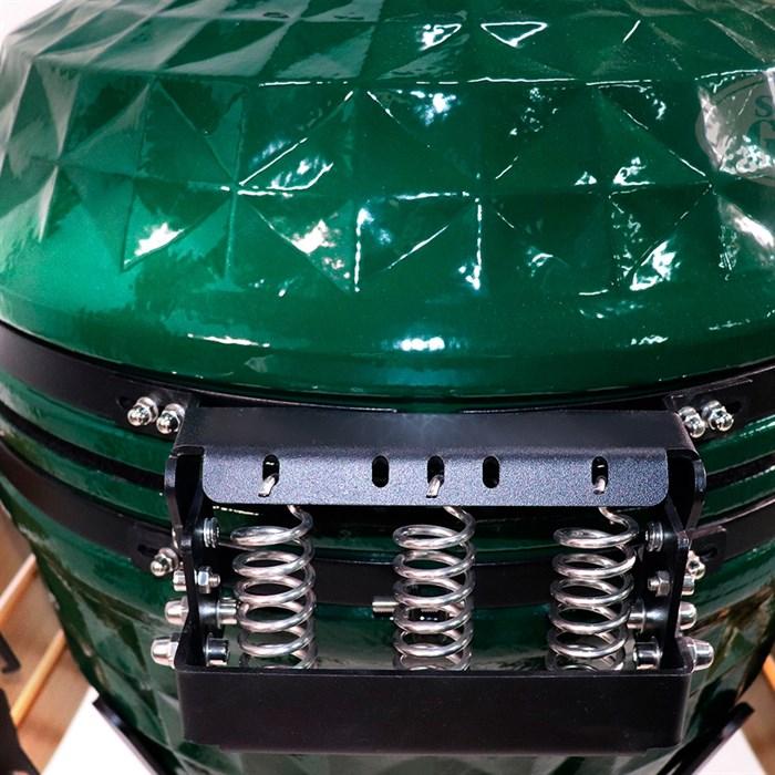 Гриль-барбекю яйцо керамический угольный зеленый, 61 см/24 дюйма - фото 87239
