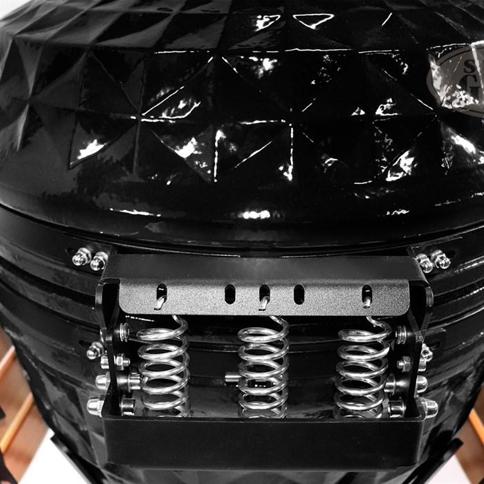 Гриль-барбекю яйцо керамический угольный черный, 61 см/24 дюйма - фото 87246