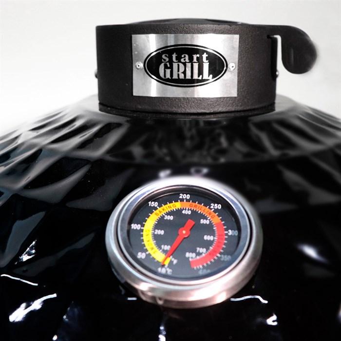 Гриль-барбекю яйцо керамический угольный черный, 61 см/24 дюйма - фото 87248