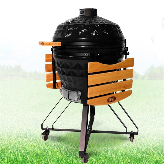Гриль-барбекю яйцо керамический угольный черный, 61 см/24 дюйма - фото 87251