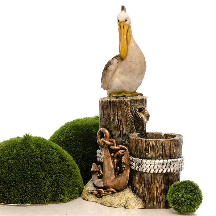 Фонтан садовый с пеликаном стеклопластик U08931 - фото 92021