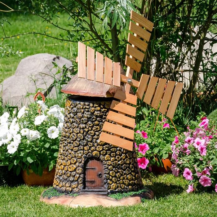 Фигура садовая Мельница Испания полистоун U07521 - фото 92372
