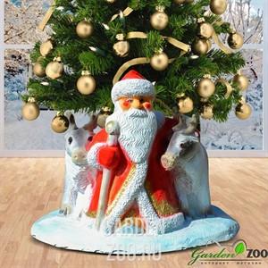 Подставка елочная Дед мороз с оленями