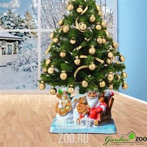 Подставка елочная Дед мороз сидит