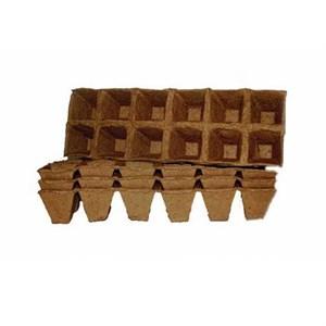 Горшок торфяной 50*50 квадрат (палет)