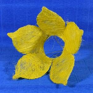 Каркас для букета сизаль цветок 25см желтый