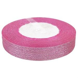 Лента парча 2см*25ярд розовый