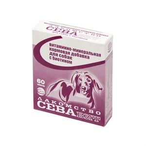 Лакомство СеваВит для собак 60т с биотином