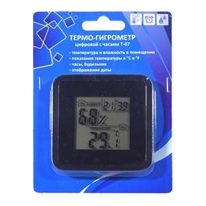 Термо-гигрометр цифровой с часами Т-07