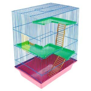 Клетка ГРИЗЛИ-4 для грызунов пластиковая
