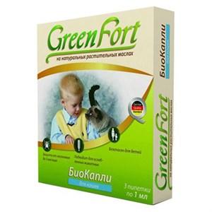 Биокапли Грин Форт от блох для кошек 3*1 мл