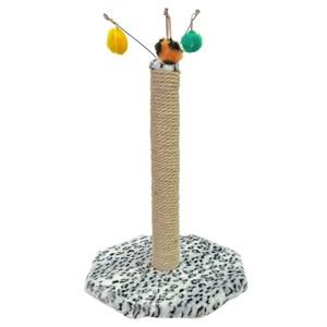 Когтеточка Гризли на подставке с 3 игрушками меховая