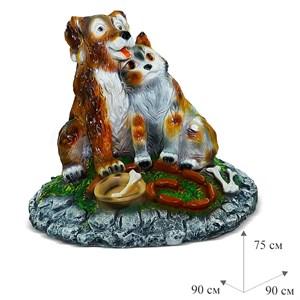 Крышка люка Собака с кошкой