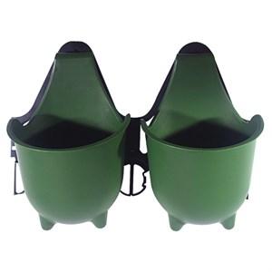 Кашпо Альфа (с рамкой) зеленый