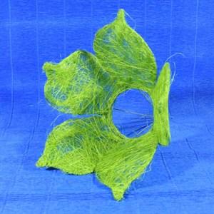 Каркас для букета сизаль цветок 25см зеленое яблоко