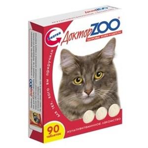 Лакомство ДОКТОР ЗОО для кошек 90т здоровье кожи и шерсти