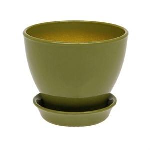 Горшок КСЕНИЯ 5 7,5л глянец оливковый