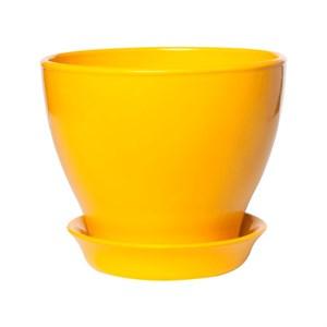 Горшок КСЕНИЯ 1 0,5л глянец желтый