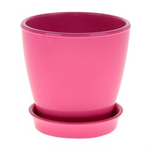 Горшок ВИКТОРИЯ 16см глянец розовый