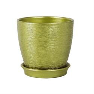 Горшок ВИКТОРИЯ 10см оливковый
