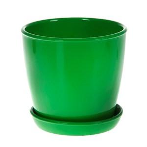 Горшок ВИКТОРИЯ 10см глянец зеленый