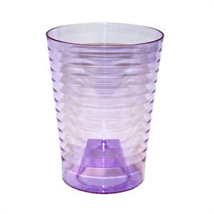 Кашпо Эльба 13*16 фиолетово-прозрачный