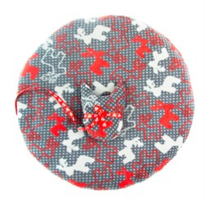 Лежак коврик L круглый с оленями+игрушка 60*60см