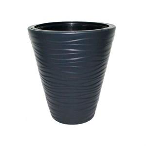 Кашпо САХАРА 30*33,5см антрацит с вкладышем