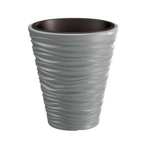 Кашпо Sand 29.5*33 см 8/13 л серый