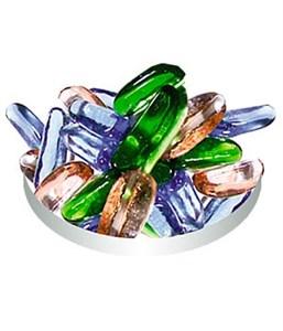 Грунт стеклянный №97 12шт палочки цветные