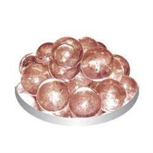 Грунт стеклянный №41 50шт круглый розовый