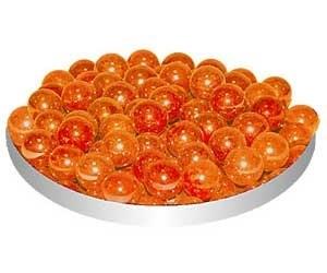 Грунт стеклянный №38 100шт круглый мелкий оранжевый