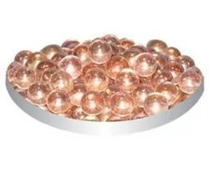 Грунт стеклянный №26 100шт круглый мелкий розовый