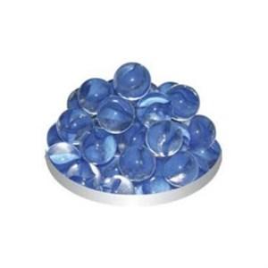 Грунт стеклянный №16 50шт круглый прозрачный голубой