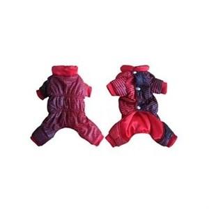 Одежда утепленная Комбинезон красный в полоску 21см FFC300
