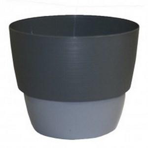 Кашпо Валенсия 2,5л серый муссон-серый