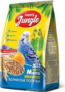 Корм Хеппи Джунгл для волнистых попугаев 500г
