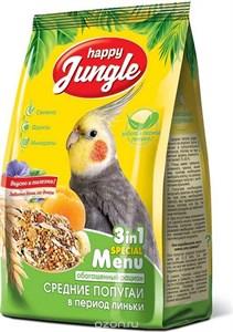 Корм Хеппи Джунгл для средних попугаев в период линьки 500г