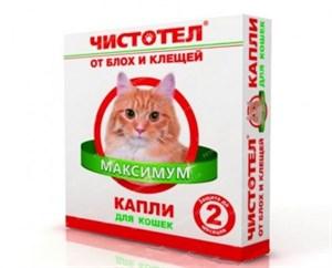 Капли ЧИСТОТЕЛ МАКСИМУМ от блох для кошек