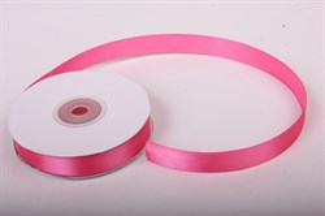 Лента атлас 15мм х 25 м К розовая