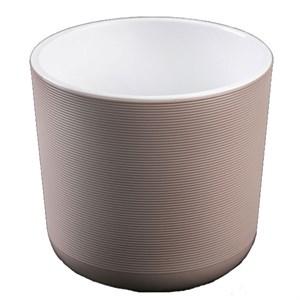 Горшок Лион 3л фраппе-белый с вкладышем