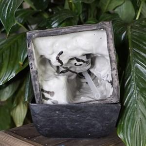 Фонтан настольный с подсветкой Лягушки с шаром Грин Эпл - фото 55123