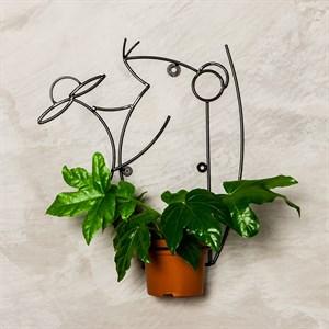 Подставка настенная Крыса на 1 цветок