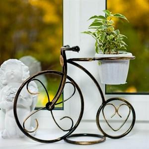 Подставка Велосипед малый на 1 цветок 10
