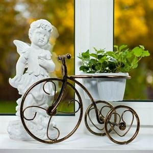 Подставка Велосипед малый двойной на 2 цветка10