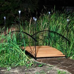 Мостик с фонарями дерево 860-43R - фото 60677